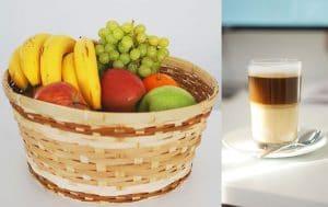 Obst und Kaffee